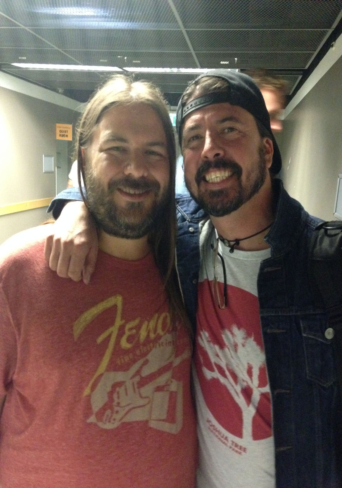 Dave Grohl & Lance backstage at the Foo Fighters concert in Budapest