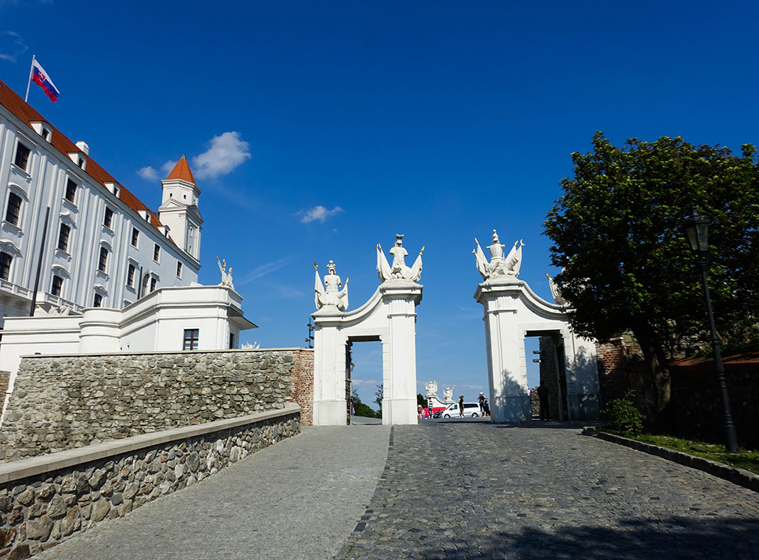 Entering the grounds of the castle through the Vienna Gate