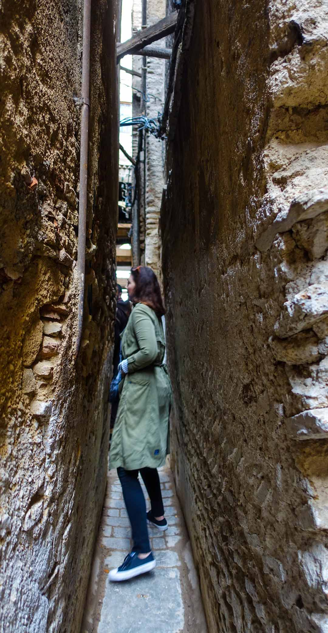 Michelle wandering in the Medina. Fes, Morocco.